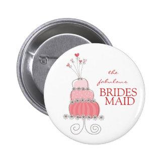 Etiqueta/regalo/botón rosados dulces del nombre pin redondo de 2 pulgadas