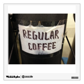 Etiqueta regular de la pared del café vinilo decorativo