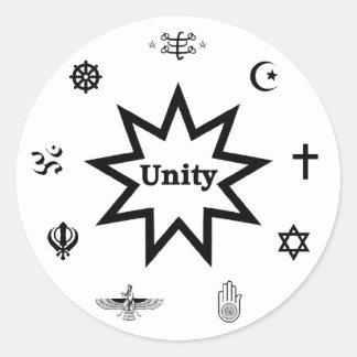 Etiqueta religiosa de la unidad