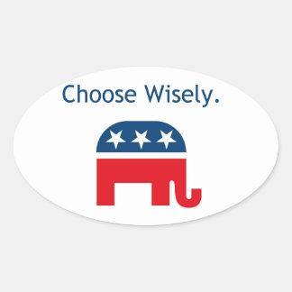Etiqueta republicana del coche