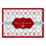 Etiqueta retra 2 del regalo de los copos de nieve plantilla de tarjeta de visita