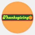 Etiqueta retra de la acción de gracias