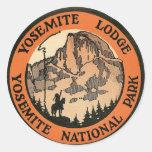 Etiqueta retra de la casa de campo de Yosemite del