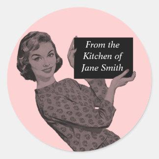 Etiqueta retra de la cocina