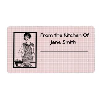 Etiqueta retra de la cocina de los años 30 etiquetas de envío