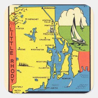 Etiqueta retra de Rhode Island Rhody del kitsch
