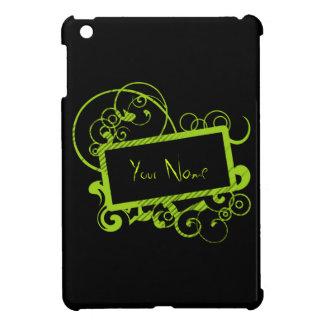 Etiqueta retra del nombre del rectángulo iPad mini cárcasa