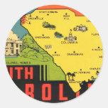 Etiqueta retra del Palmetto de Carolina del Sur de