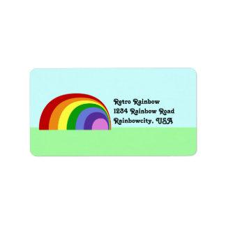 Etiqueta retra del remite del arco iris etiquetas de dirección