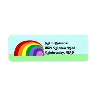 Etiqueta retra del remite del arco iris etiquetas de remite