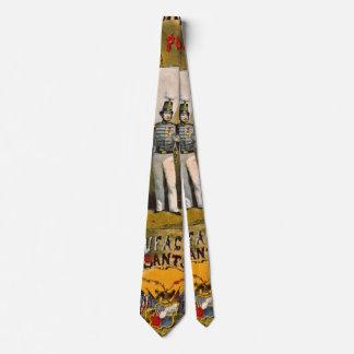 Etiqueta retra del tabaco b 1857 corbata