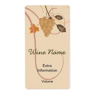Etiqueta retra del vino de las uvas con besos etiqueta de envío