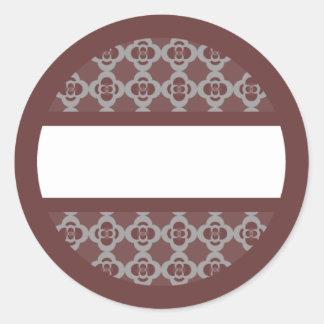 Etiqueta retra redonda de los rojos