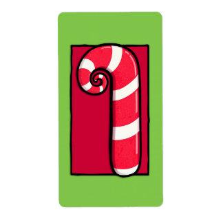 Etiqueta rizada del pegatina del verde del bastón etiqueta de envío