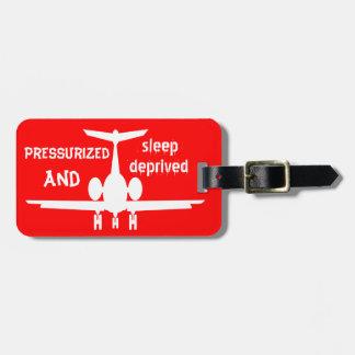 Etiqueta roja adaptable de la identidad del equipa etiquetas bolsas