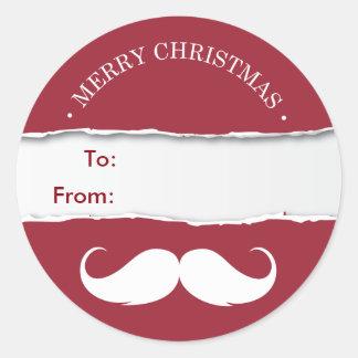 Etiqueta roja alegre del regalo del navidad del