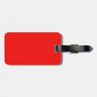 Etiqueta roja brillante del equipaje etiquetas de equipaje