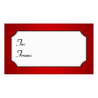 Etiqueta roja brillante del regalo plantilla de tarjeta personal