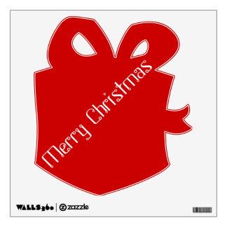 Etiqueta roja de la pared de las Felices Navidad Vinilo Adhesivo