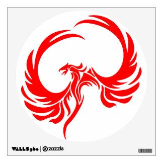 Etiqueta roja de la pared de Phoenix