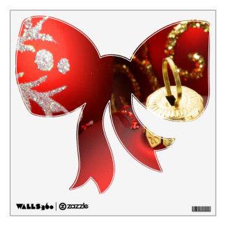 Etiqueta roja de la pared del arco del navidad vinilo decorativo