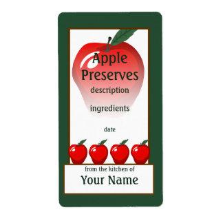 Etiqueta roja de los cotos de Apple Etiqueta De Envío