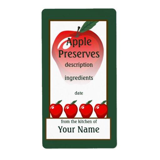 Etiqueta roja de los cotos de Apple Etiquetas De Envío