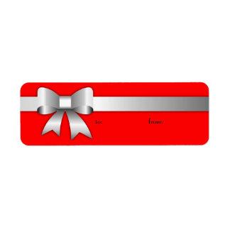 Etiqueta roja de plata de 311 Arcos-Licious Etiqueta De Remitente