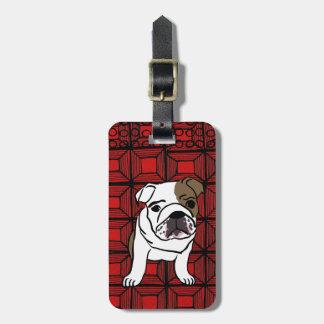 Etiqueta roja del equipaje del perro
