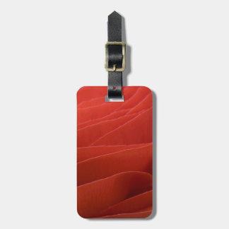 Etiqueta roja del equipaje del ranúnculo etiqueta de equipaje
