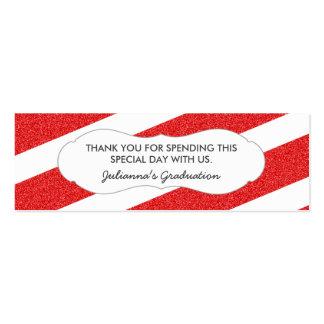 Etiqueta roja del favor del brillo/CUALQUIE Tarjetas De Visita Mini