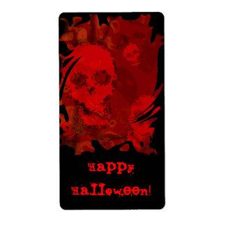 """Etiqueta roja del """"feliz Halloween"""" de los Etiqueta De Envío"""