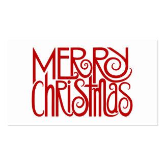 Etiqueta roja del regalo de las Felices Navidad Tarjetas De Visita