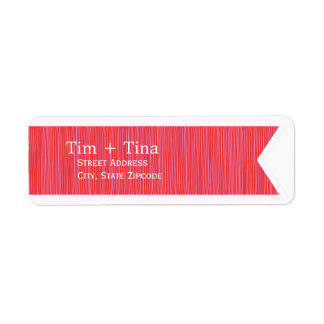 Etiqueta roja del remite de la cinta etiquetas de remite