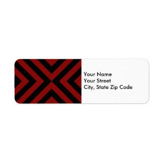 Etiqueta roja y negra del remite de los galones etiqueta de remite