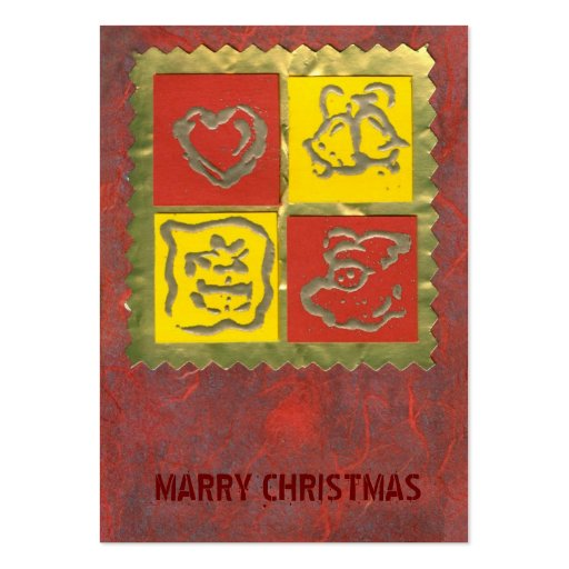 etiqueta rojo-amarilla del regalo de las Felices N Tarjeta Personal