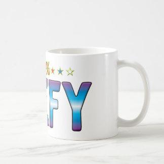 Etiqueta rolliza v2 de la estrella taza clásica