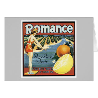 Etiqueta romántica de la fruta del vintage tarjetas