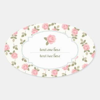 Etiqueta romántica del regalo de los rosas del