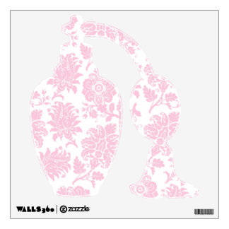 Etiqueta rosada bonita del perfume del damasco vinilo adhesivo