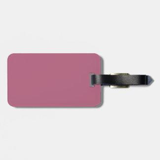 Etiqueta rosada de color de malva del equipaje etiquetas para equipaje