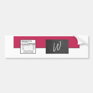 Etiqueta rosada de la botella de agua del boda de  pegatina para auto