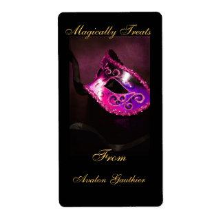 Etiqueta rosada de la hornada de Halloween de la m Etiqueta De Envío
