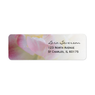 Etiqueta rosada de lujo del remite del tulipán etiquetas de remite