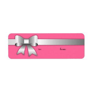 Etiqueta rosada de plata de 311 Arcos-Licious Etiqueta De Remite