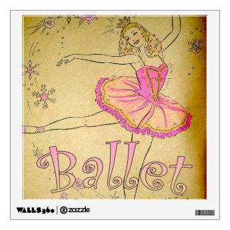 Etiqueta rosada del dormitorio de la bailarina del