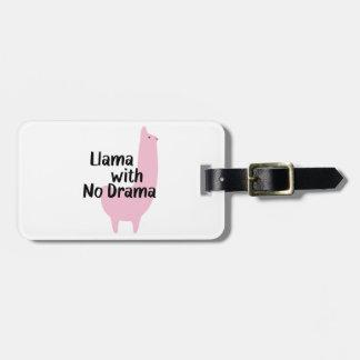 Etiqueta rosada del equipaje de la llama etiquetas maleta