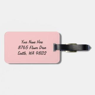 Etiqueta rosada del equipaje del Dogwood Etiqueta De Equipaje