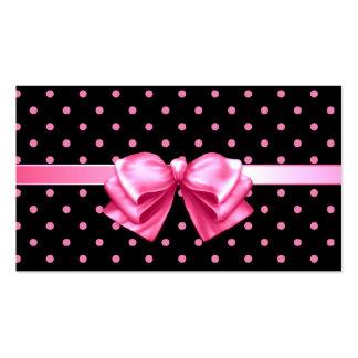 Etiqueta rosada del regalo de los lunares tarjeta personal