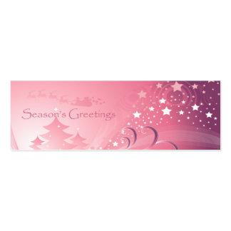 Etiqueta rosada del regalo del navidad tarjetas de visita mini